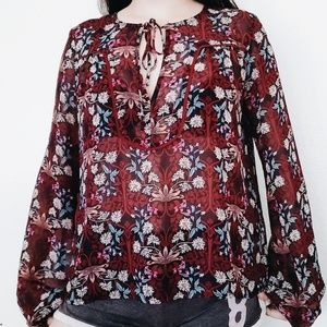 Red floral print shirt from forever 21